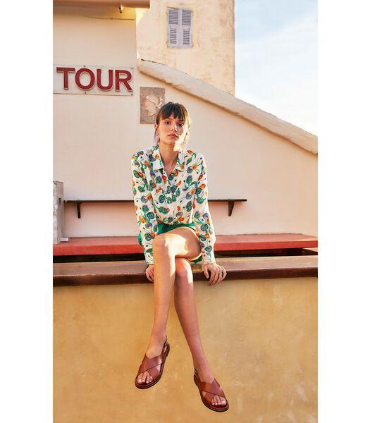 Zijden blouse Mamie Odette