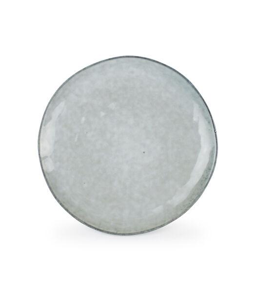 Plat bord 20cm coupe groen Artisan - (x4)