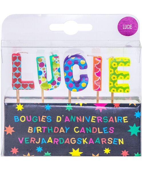 Bougies d'anniversaire prénom Lucie