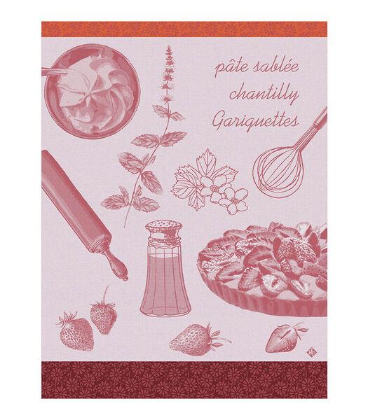 Theedoek Recettes - Tarte aux fraises Clery