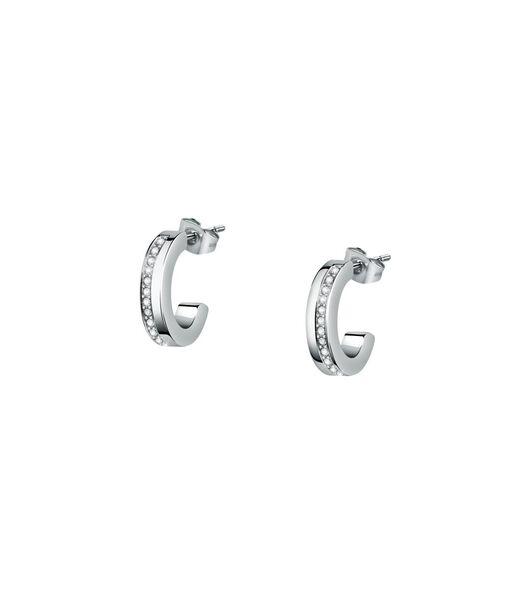 Boucles D'Oreilles en acier, cristaux CREOLE