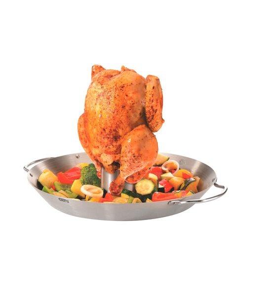 Rustidor de pollos y wok para verduras BBQ