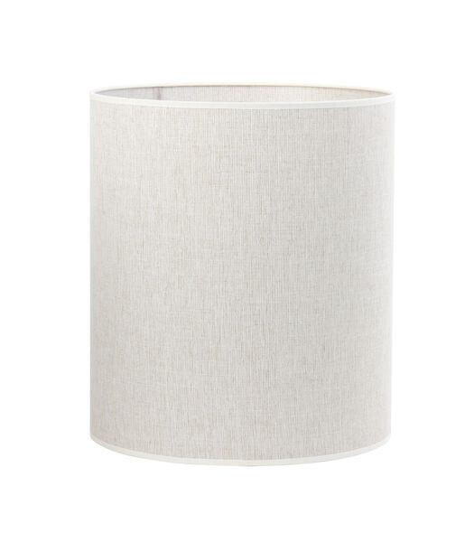 Cilinder lampenkap Breska - Parel Wit - Ø35x40 cm