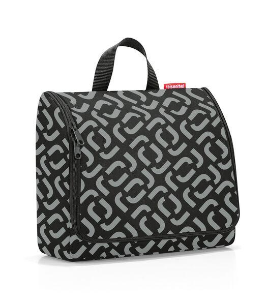 Toiletbag XL - Toilettas - Signature Black Zwart