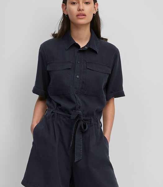 Korte jumpsuit van Tencel™ lyocell