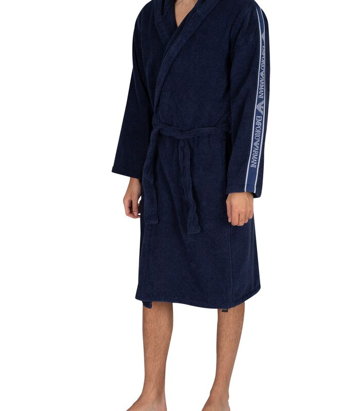 Actieve geweven badjas met capuchon image number 0