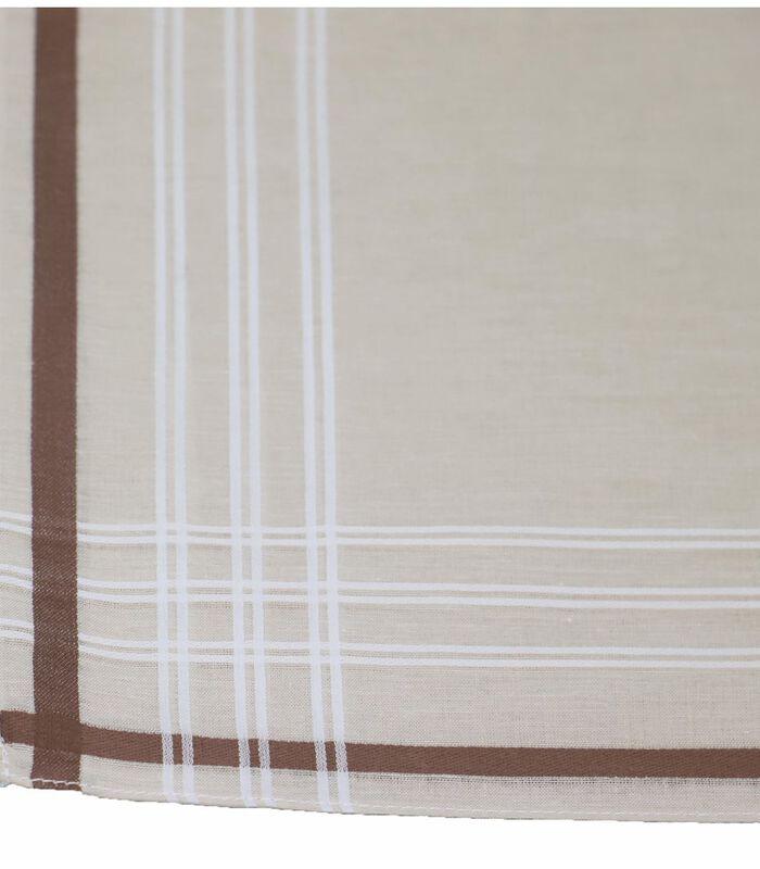 Set van 6 katoenen zakdoeken ROMAIN image number 2