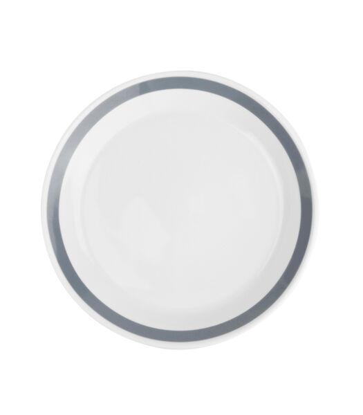 Assiette creuse 23xH6,5cm gris Stripes - set/6
