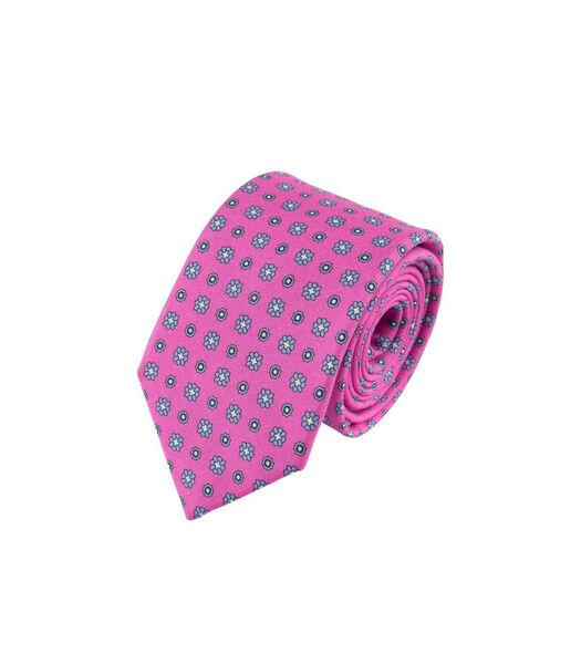 Cravate imprimée petites fleurs en soie