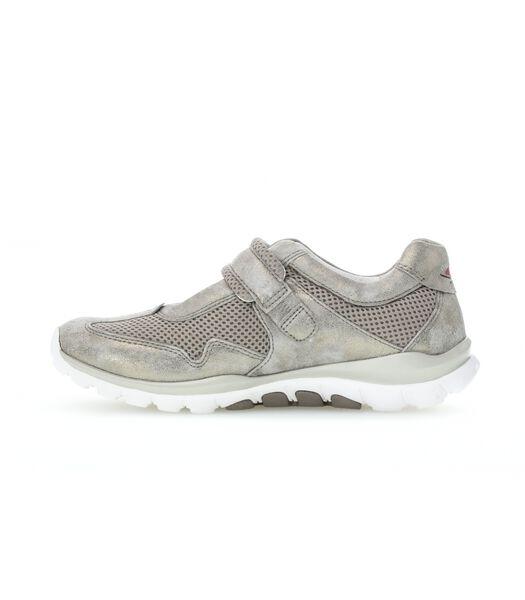 Sneakers plat textiel