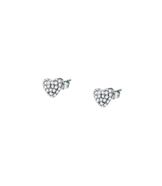 Boucles D'Oreilles en acier, cristaux INCONTRI