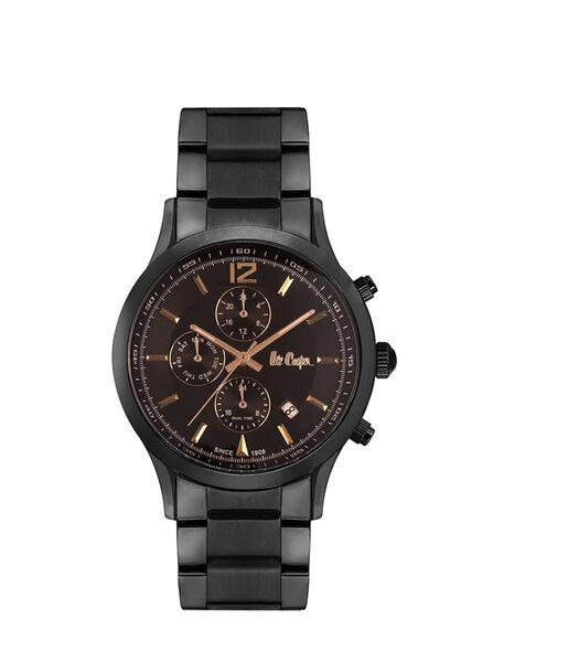 Analoog multifunctioneel horloge met metalen band SUITS