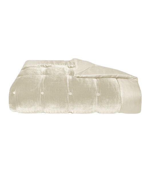 Cocon - Gestikte deken viscose katoen