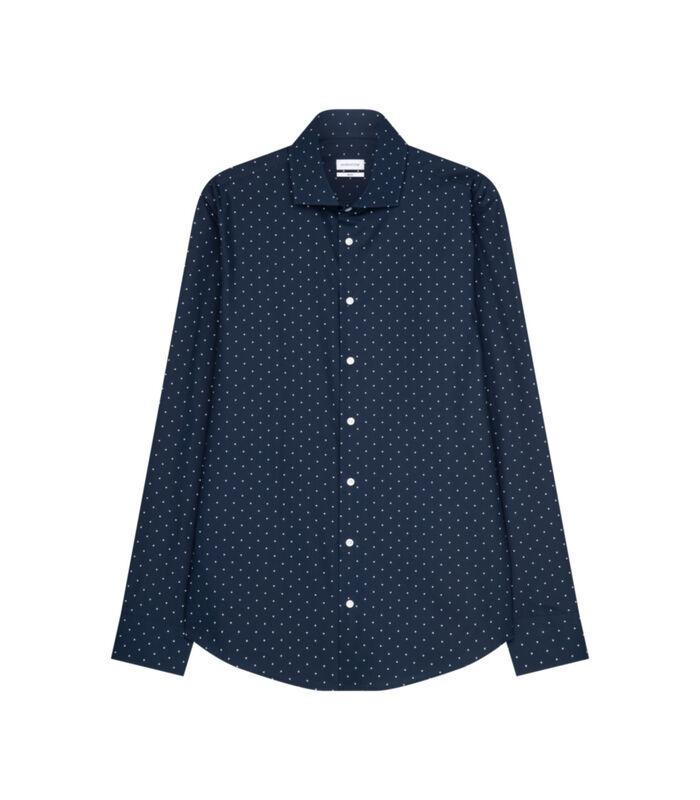 Overhemd Slim Fit Lange mouwen Stippen image number 0