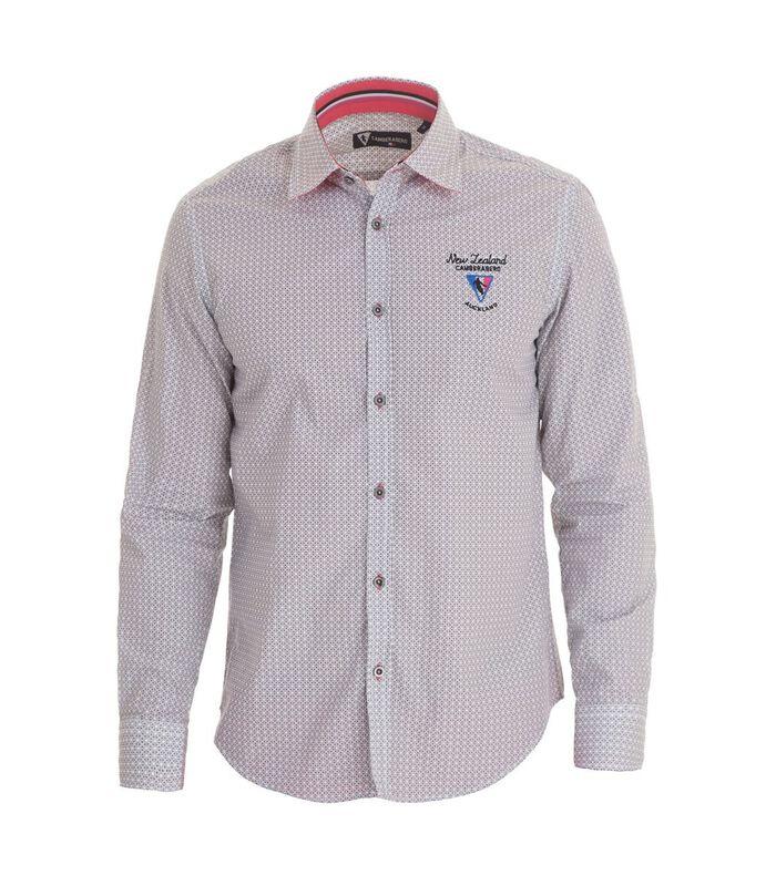 Overhemd in popeline met lange mouwen en motief image number 4