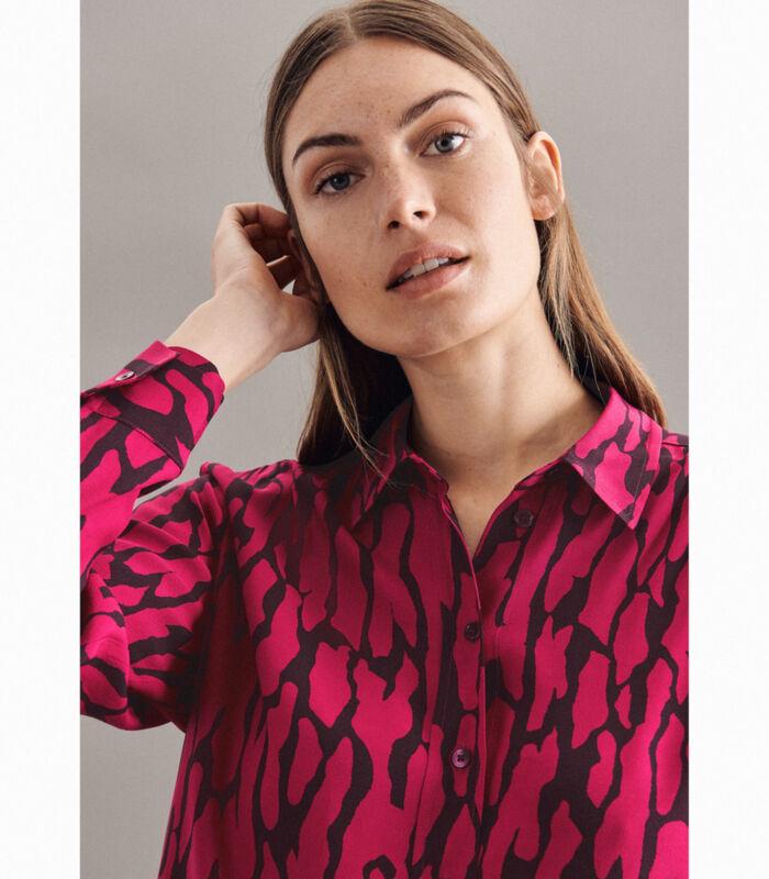 Shirtblouse Print Lange mouwen Kraag image number 2