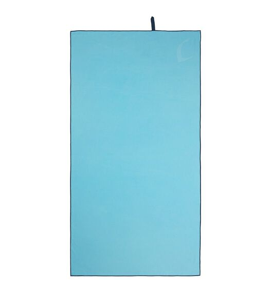 Set de serviettes 2 pièces microfibre bleu clair/aqua