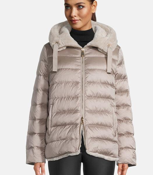 2-zijdige jas met capuchon