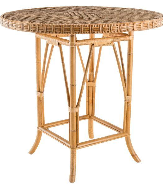 EUGÉNIE Table guéridon en rotin tressé
