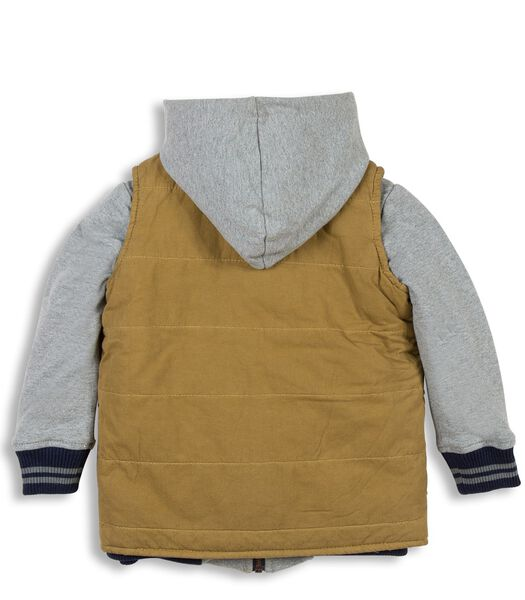 2 in 1 bodywarmer en hoodie