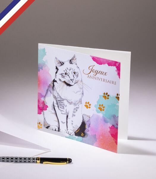 Dubbele kaart Florilège - Gelukkige verjaardag Kat