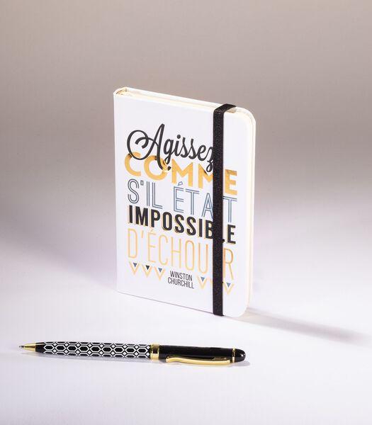 Leitmotiv - A6 elastisch notitieboek - Impossible