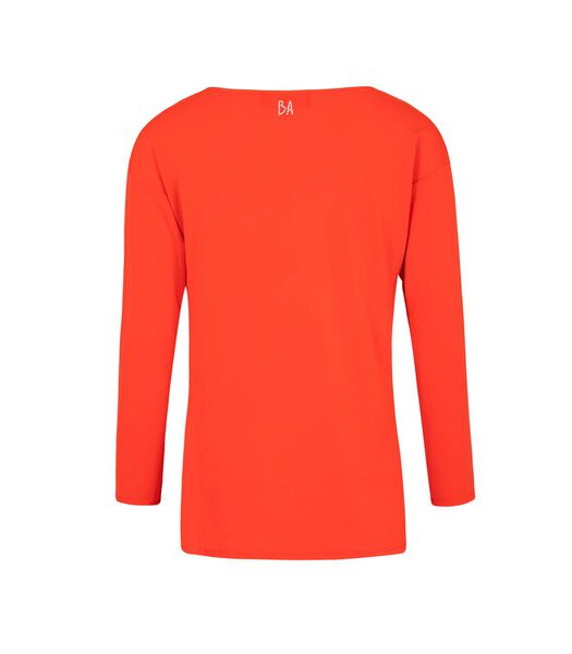 Stretch crêpe jersey T-shirt WILLA