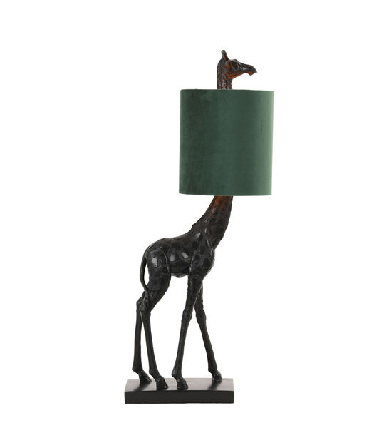 Tafellamp Giraffe - Zwart/Groen - 26x16x61cm