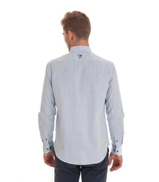 Effen overhemd met lange mouwen