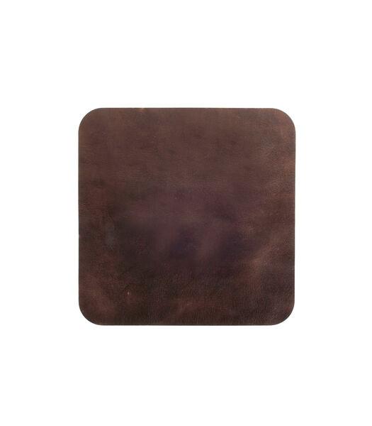 ELLIS onderlegger vierkant donker bruin