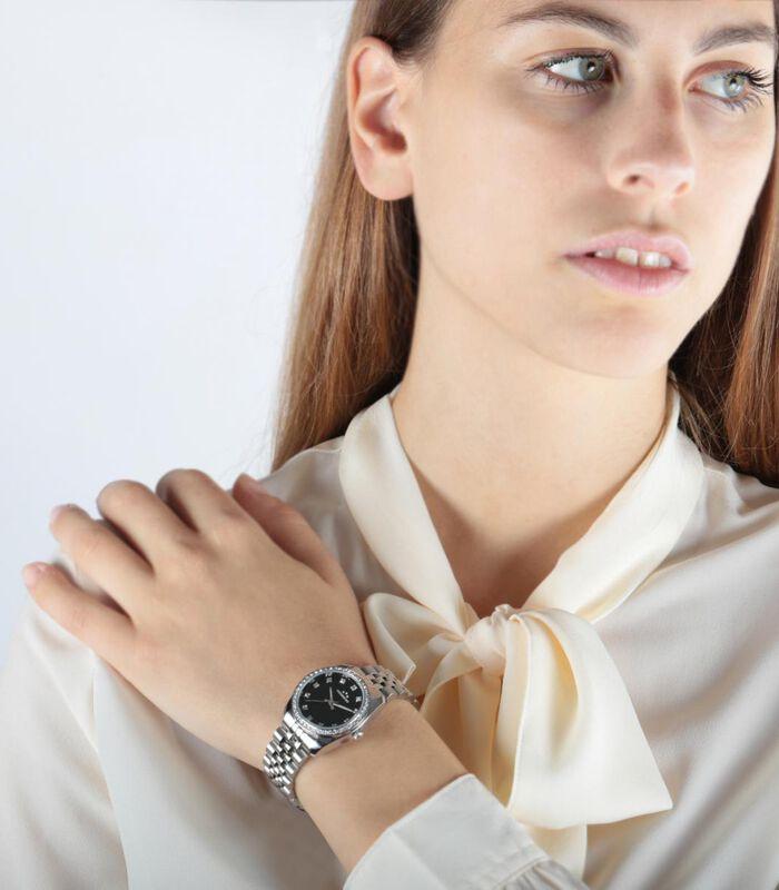 Analoog horloge legering, staal LUXURY image number 2