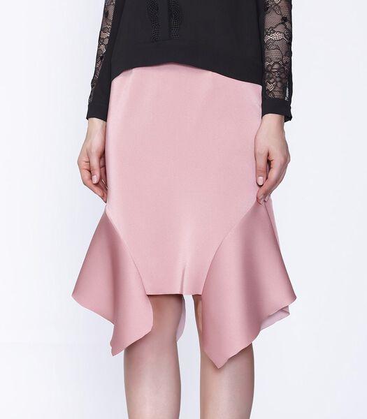 Rechte rok met uitlopende zijkanten