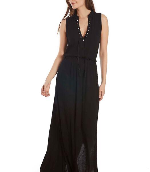 Mouwloze zomer maxi jurk