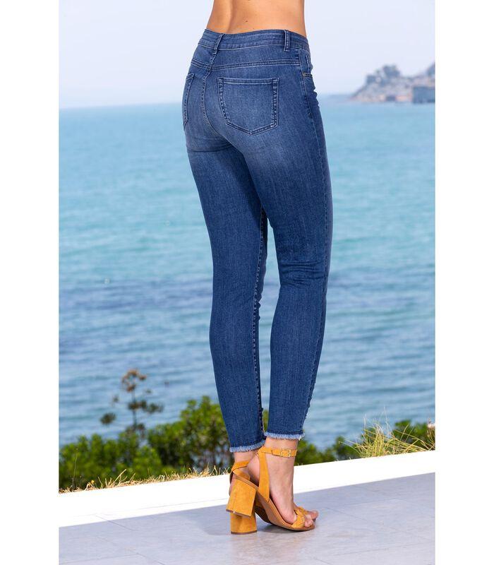 Jeans slim denim brut troué et franges CRUSH image number 3