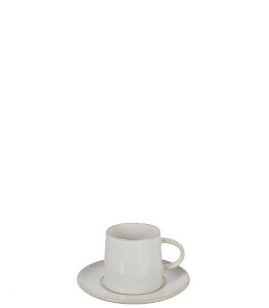 Tasse   Sous-Tasse Noa Porcelaine Blanc