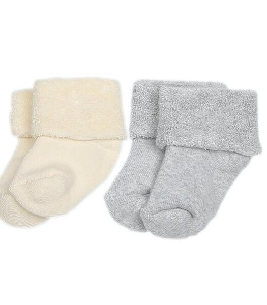 Chaussettes bébé en coton  éponge bouclette biologique