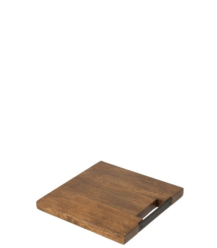 Snijplank Vierkant Mango Hout Bruin Small image number 0