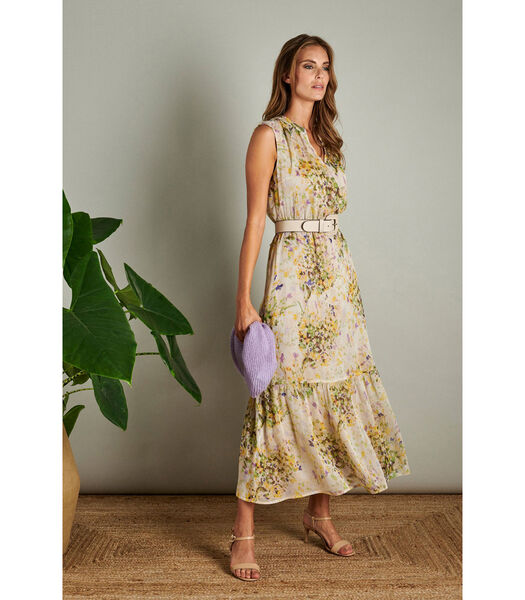Prachtige maxi jurk met fris bloemenmotief