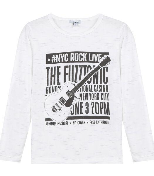 T-shirt met lange mouwen en rockmotief