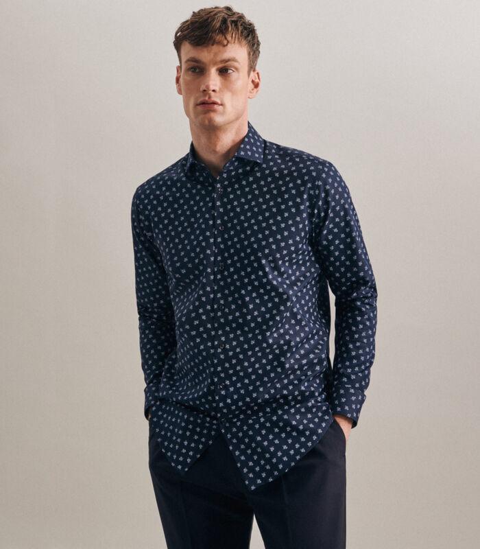 Oxfordhemd Regular Fit Extra lange mouwen Print image number 0