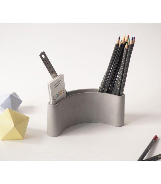 Pot à crayons design en béton x2, PARENTHESE