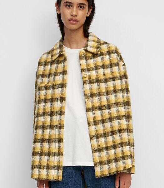 Surchemise à carreaux en laine mélangée de premier choix