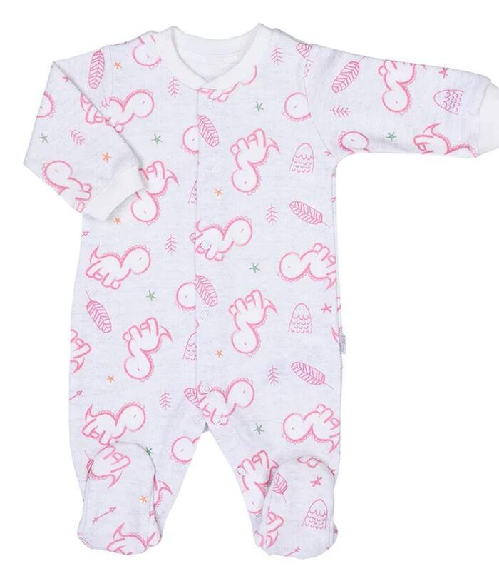 Baby pyjama met bandana en mutsje van biologisch katoen image number 1
