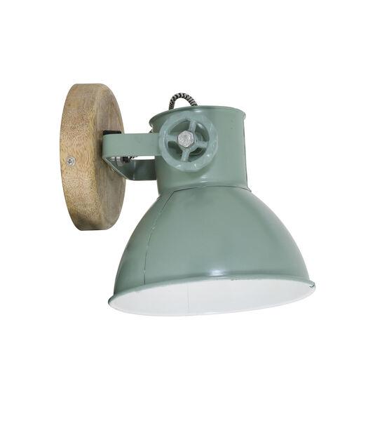 Wandlamp Elay - Hout/Groen