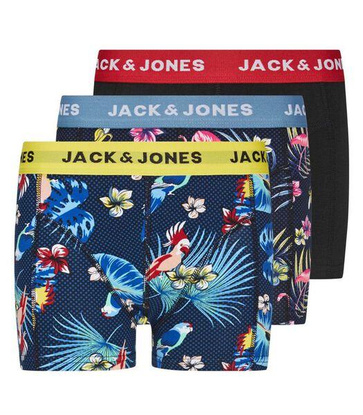 Short 3 pack jacflower bird trunks j-164
