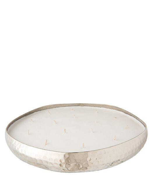 Bougie Parfumee Livia Metal Argent Extra Large