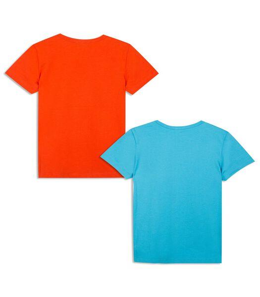 Set van 2 bedrukte t-shirts