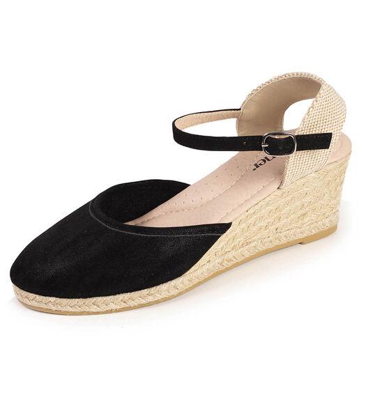 Chaussures espadrilles femme suédine