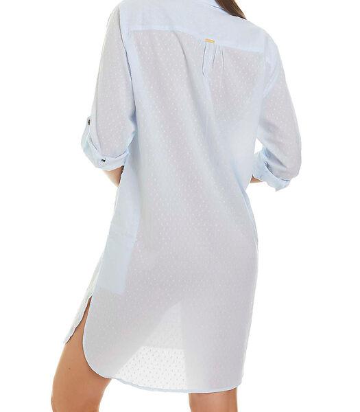 Tuniek strandoverhemd met driekwart mouwen