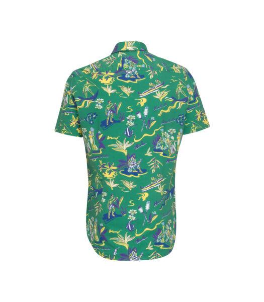 Overhemd Shaped Fit Korte mouwen Print